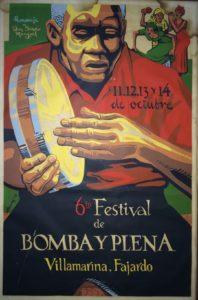 José Alicea, 6 to Festival de Bomba y Plena. 1979. Serigraph. Special Collections Division.